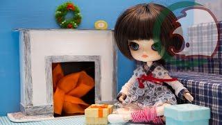 Как сделать камин для кукол.  How to make fireplace for dolls.