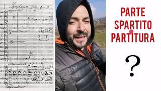 TUTORIAL 17 – Parte, Spartito e Partitura. E' ora di fare chiarezza! Gianluca Pica
