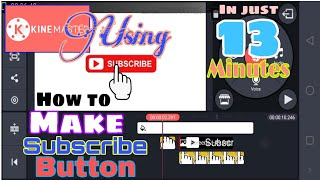 HOW TO MAKE SUBSCRIBE BUTTON WITH NOTIFICATION BELL  WITH SOUND EFFECT USING MOBILE | Cie Rus