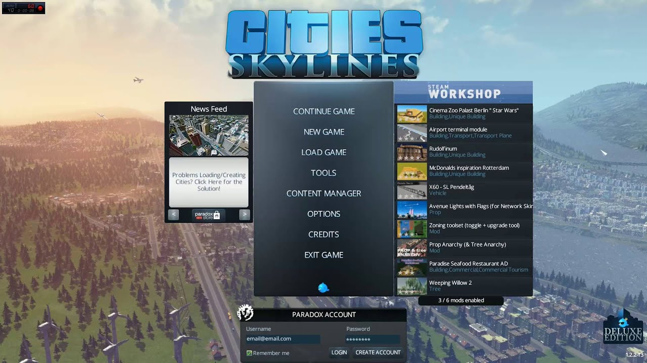 how to activate unlimited money in <b>city skylines</b> - YouTube