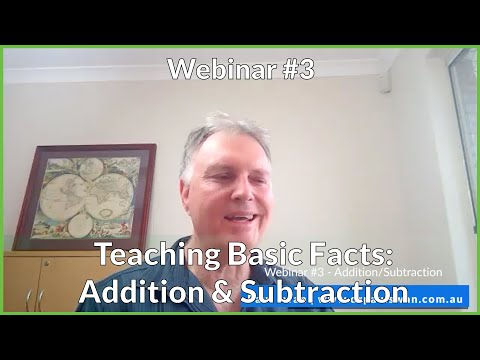Dr Paul Swan Webinar #3 - Addition/Subtraction Basic Facts
