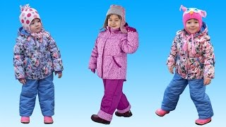 видео Комплект демисезонный  (курточка + брюки) Hippo Hoppo Арт. 1914476 - «Хороший комплект - штаны с подтяжками и курточка, из которой можно сделать ветровку и толстовку + фотографии и фотоколлажи.»