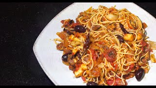 Seafood Tomato Chili Spaghetti - Seafood Pasta - Youtube