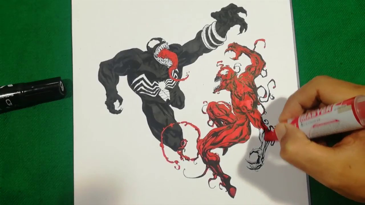 VENOM VS CARNAGE BRUTAL FIGHT Coloring