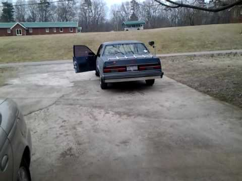 Old Start Cold Start 1985 Chevrolet Celebrity With Open Exhaust Sounds Like A V8