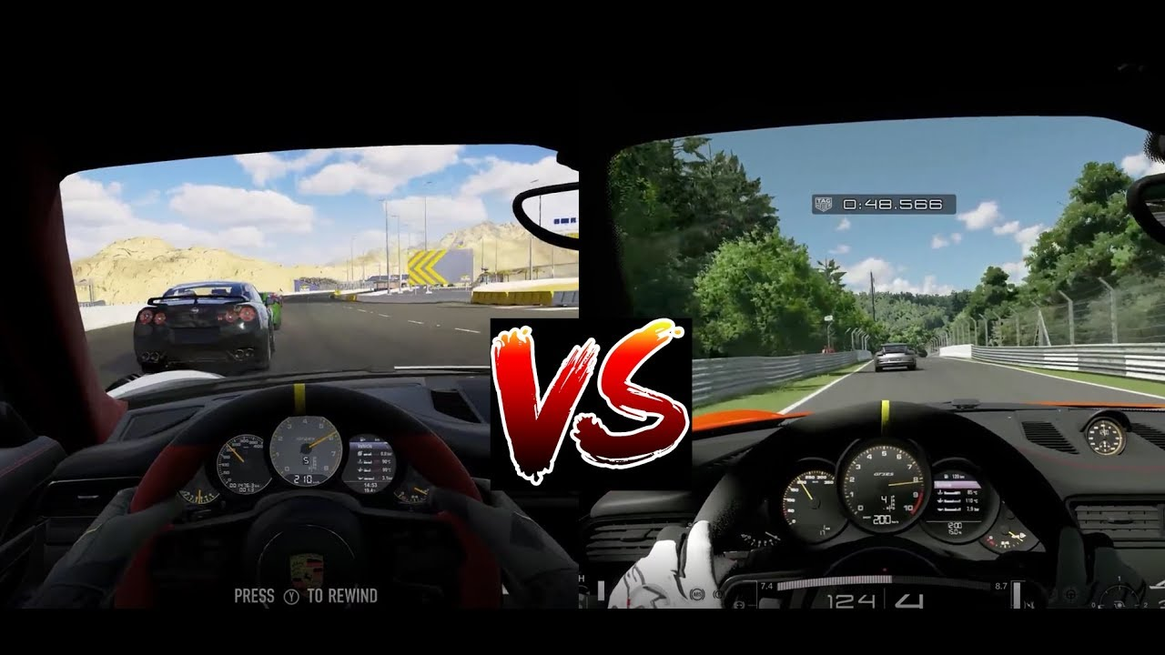 forza 7 vs gt sport xbox one x vs ps4 pro gameplay in cockpit view porsche 911 youtube. Black Bedroom Furniture Sets. Home Design Ideas