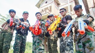 LTT Nerf War : SEAL X Warriors Nerf Guns Fight Attack Criminal Group Avenger Captain