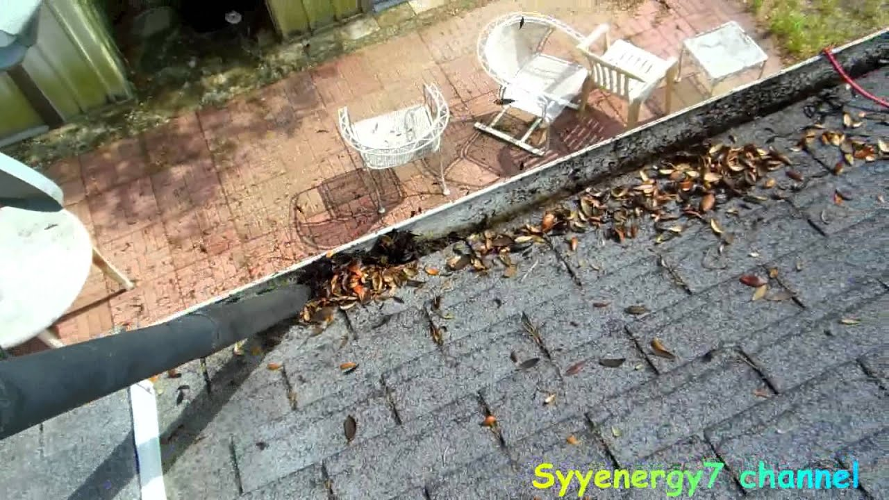 Fastest Way To Clean The Gutters On Your House Youtube