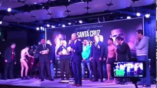 Leo Santa Cruz vs Rivera WEIGH IN - Esnews
