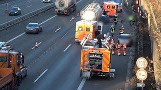 UPDATE – Zwei Schwerverletzte bei Verkehrsunfall auf der A1 bei Hagen-West
