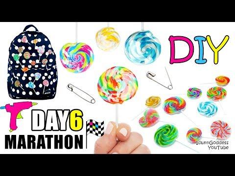 DIY Glue Gun Pins Lollipops - DAY 6 of 7-Day Marathon Of Glue Gun DIYs