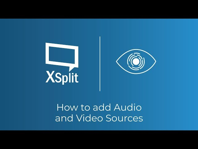 XSplit Broadcaster: Capture Cards, Webcams and Microphones