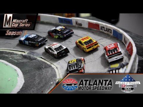 NASCAR Stop-Motion: Miscraft Cup Series // S5 Finale // Atlanta