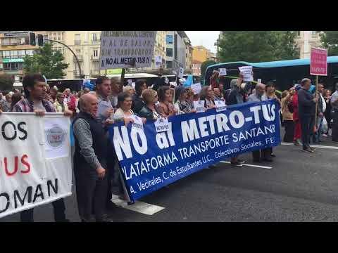 Tercera concentración contra el MetroTUS en Santander