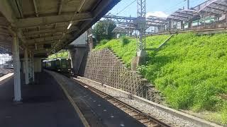 近鉄 かぎろひが奈良線石切駅を発車してトンネルへ