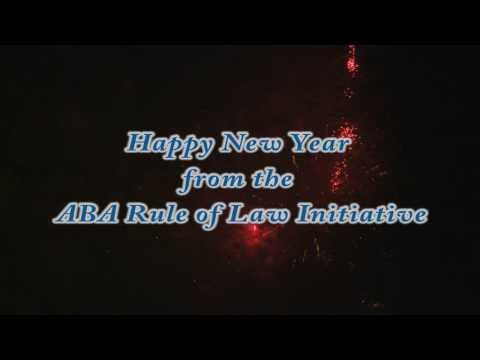 Happy New Year from the ABA Rule of Law Initiative