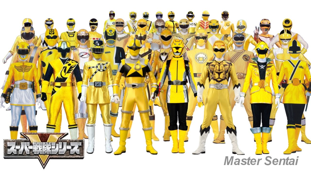 all yellow rangers of super sentai youtube