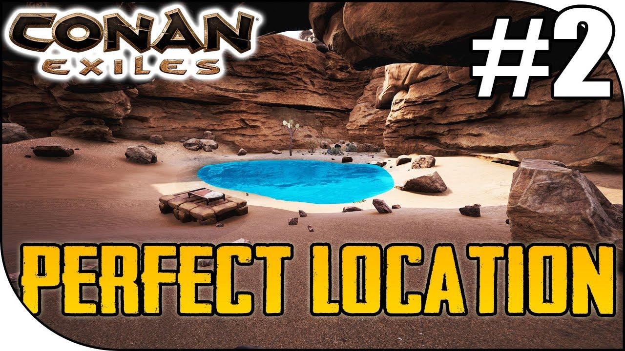 Conan Exiles Best Base Locations 2019 PERFECT BASE LOCATION, Conan Exiles S3E02   YouTube