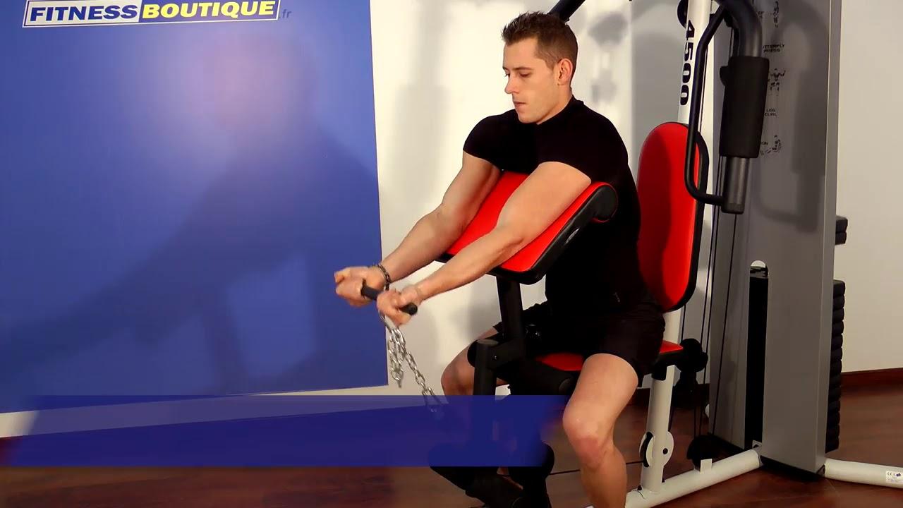 Appareil De Musculation Weider Pro 4500 Youtube