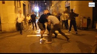 Brutal agresión redskin a ucranianos en Barcelona