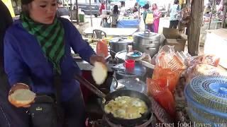 Darjeeling Street Food | India Street Food | Bread Omelet | Look How Young Lady Selling Fast