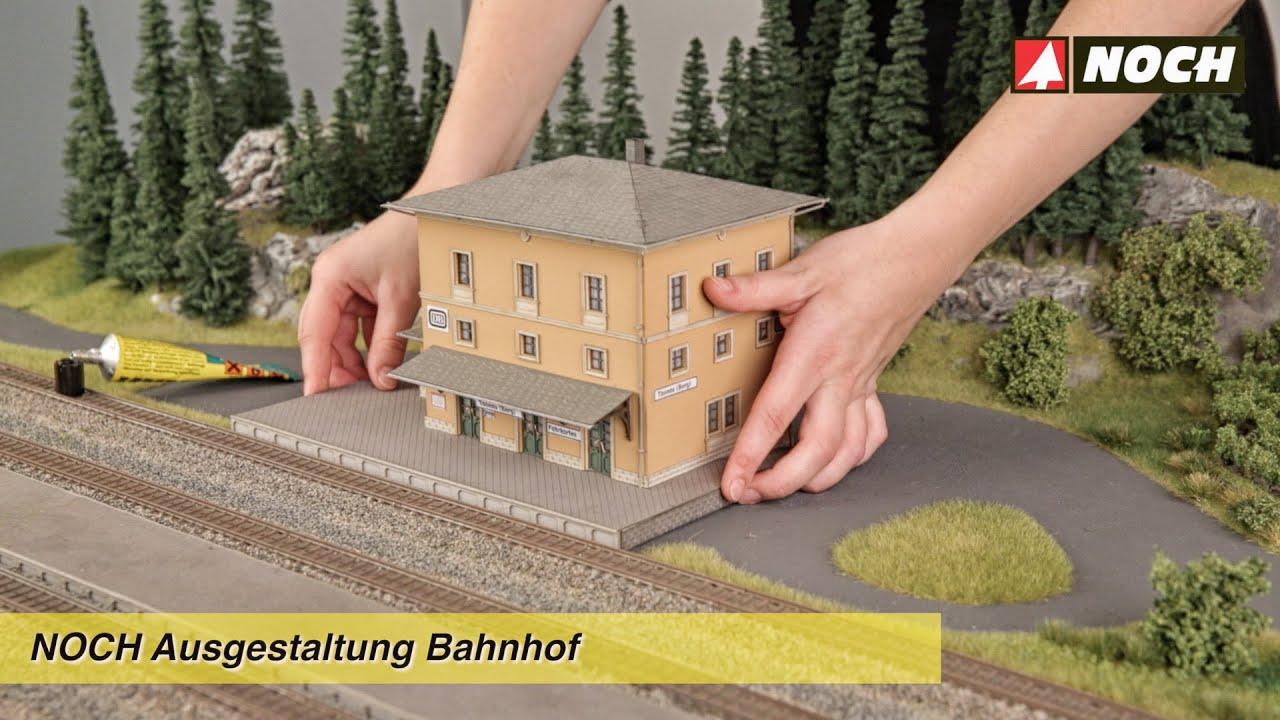 Noch modellbau ausgestaltung einer bahnhofsszene youtube for Bilder fa r treppenhaus