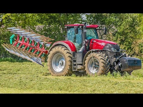 CASE IH Optum   Fendt Traktoren  Kverneland 2500 Plough   Pflügen   Produktvideo   AgrartechnikHD