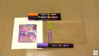 Creative Magic: POSCA Paint Pens On Gel Press by Joggles.com