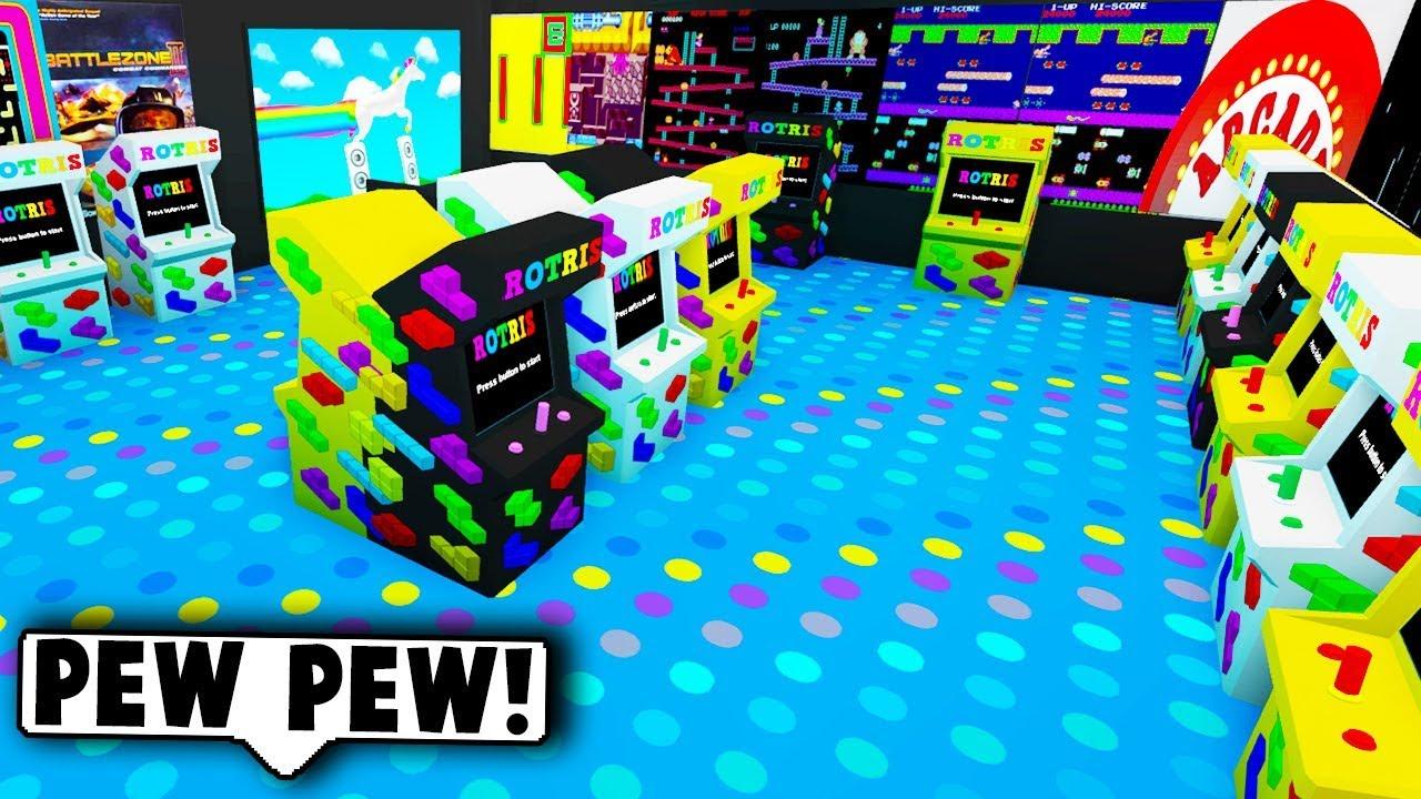 I Made An Arcade In My Mall On Bloxburg Roblox Bloxburg Youtube