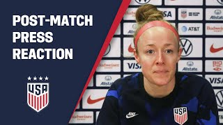 POST MATCH REACTION Becky Sauerbrunn USWNT vs France 04 13 21