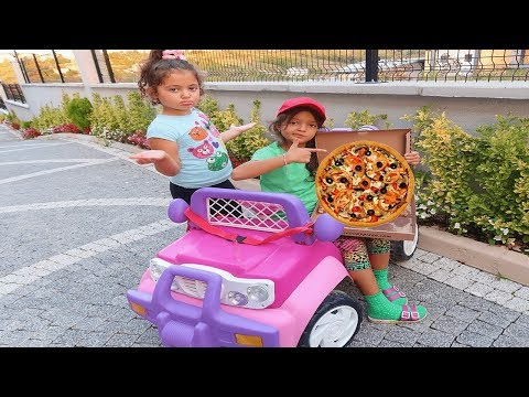 Öykü'nün Pizzasını Kim Yedi! Pizza Delivery to our house from Food Truck! Fun Kids Video