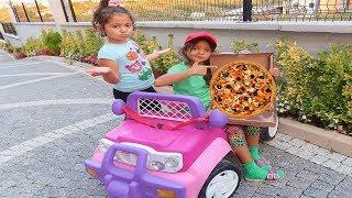 Öykü'nün Pizzasını Kim Yedi! Pizza Delivery to our house from Food Truck! Fun Kids Video