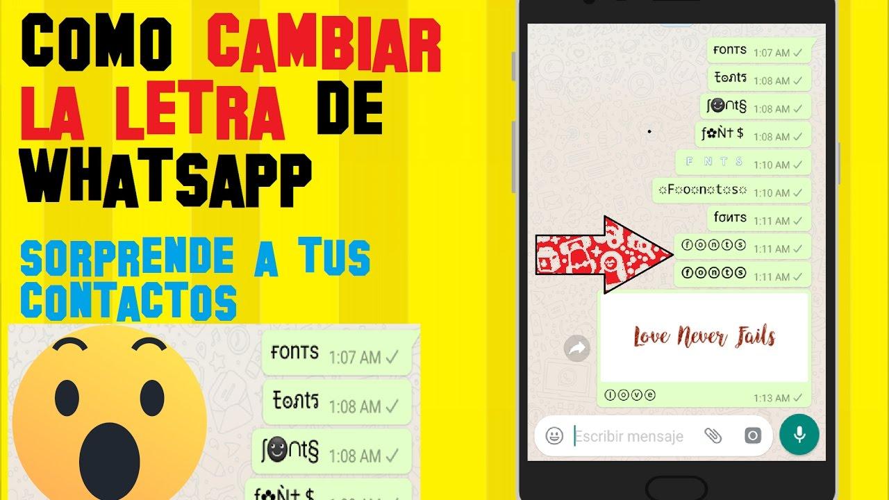 Como Cambiar La Letra Del Whatsapp Fonts Letras Para Whatsapp Apk Sirve Para Instagram Y Mas Youtube