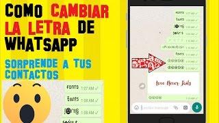 Como CAMBIAR la LETRA del Whatsapp | FONTS - Letras para Whatsapp APK | Sirve para INSTAGRAM y mas