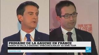 """Premier tour de la Primaire de la Gauche - """"2 hommes et 2 projets l"""