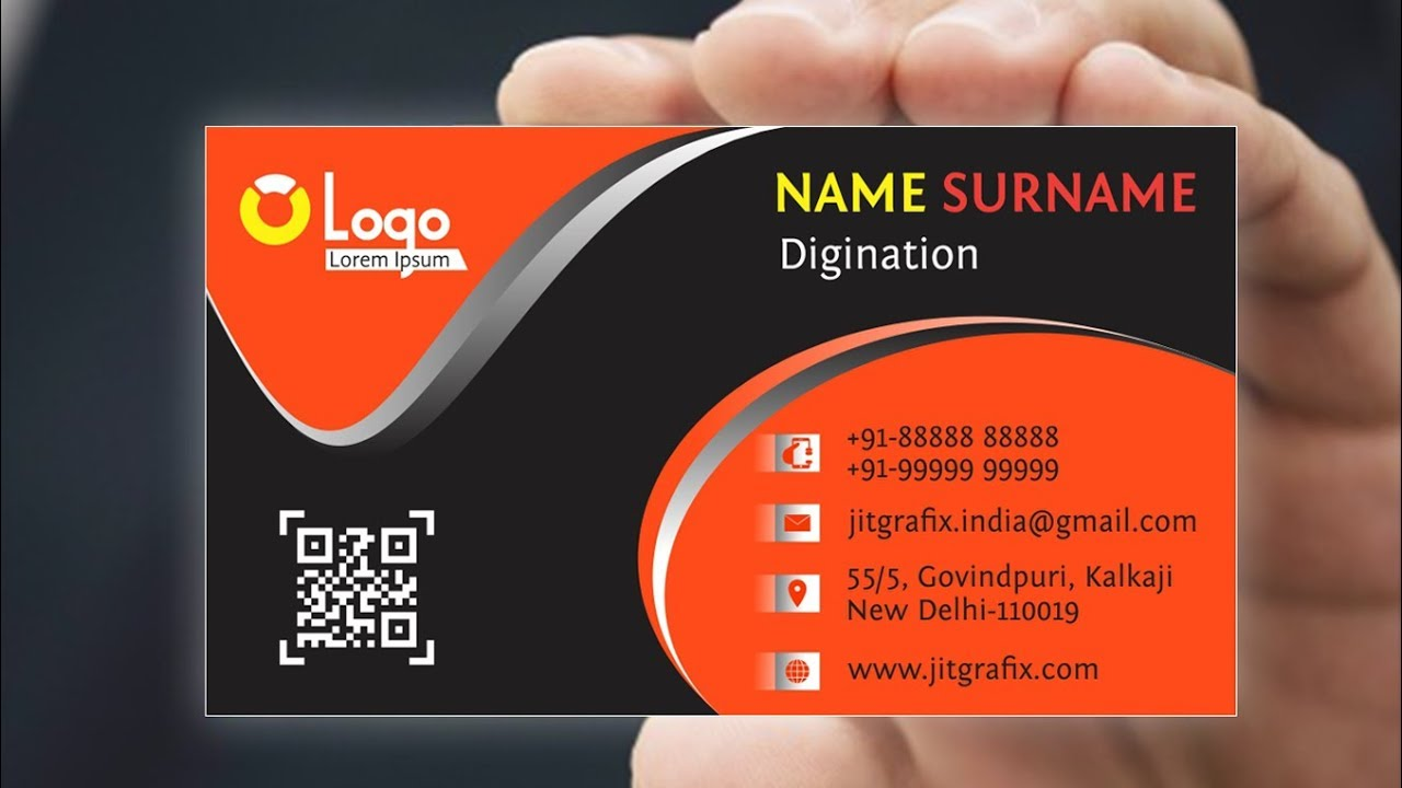 Professional Business Card New Design In Coreldraw Creative Visiting Card Design Latest Tutorial Youtube