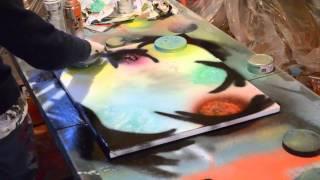 Colorful Space Nebula Painting: sprayingthecosmos - spray paint art space