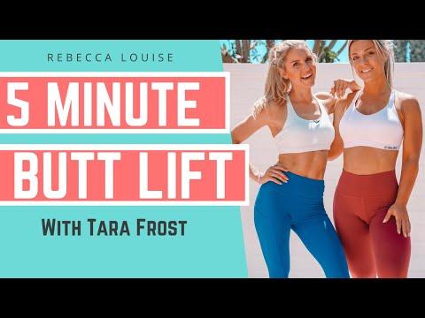 5 Minute BUTT LIFT Workout (BEST Butt Exercises)