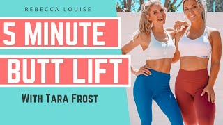 BRIDGE CHALLENGE workout for a FAST BUTT LIFT | Rebecca Louise