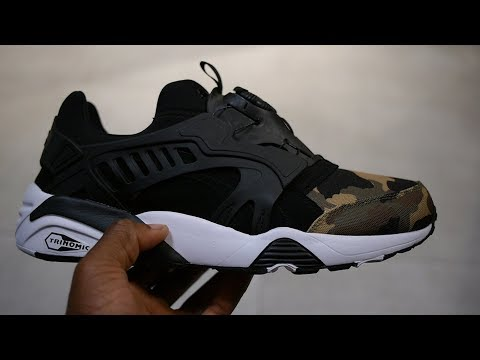 the latest b439b b6d3e Смотреть видео Puma Trinomic Disc Blaze Quick Look   On Feet (Black - Camo  Pack) онлайн, скачать на мобильный.