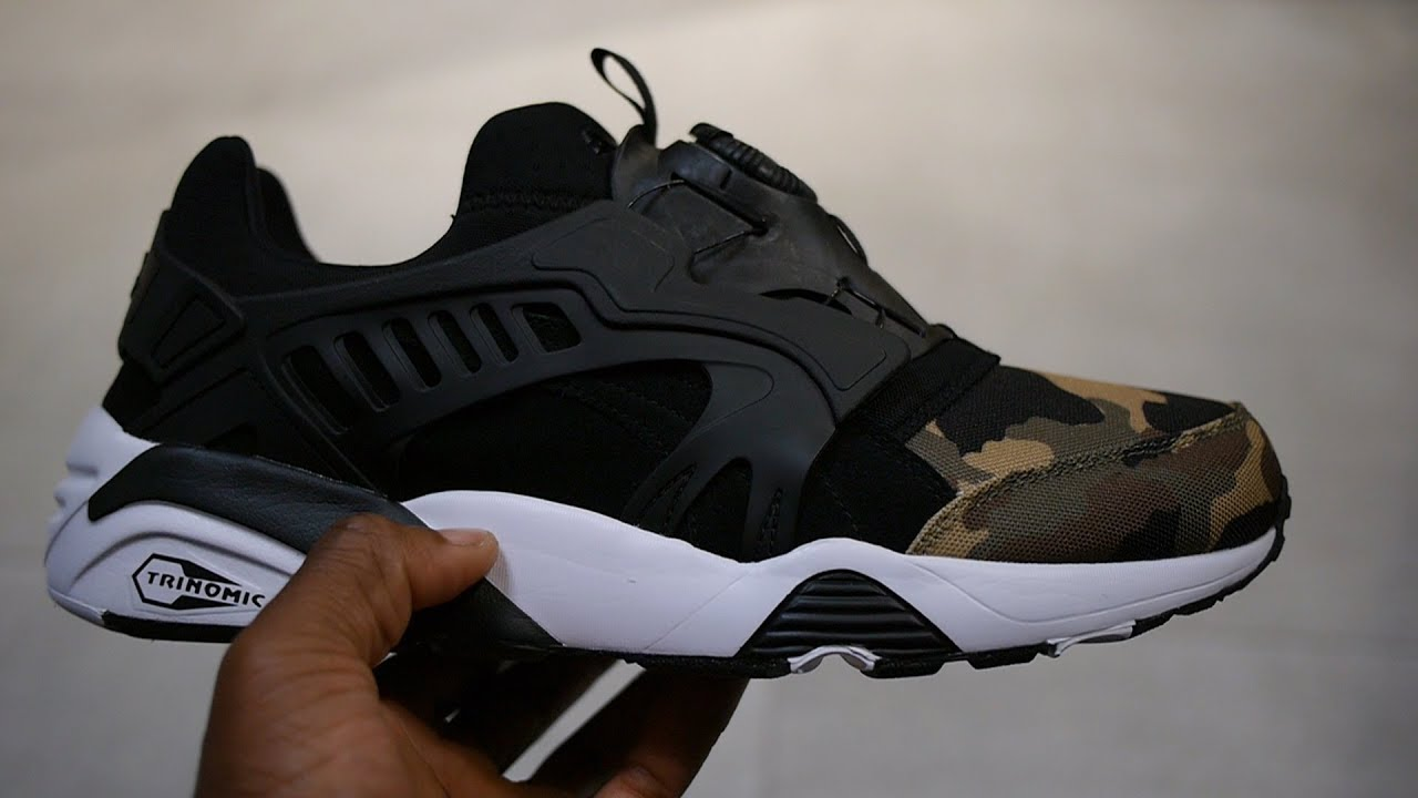 Puma Trinomic Disc Blaze Quick Look   On Feet (Black - Camo Pack) 86d733d4f