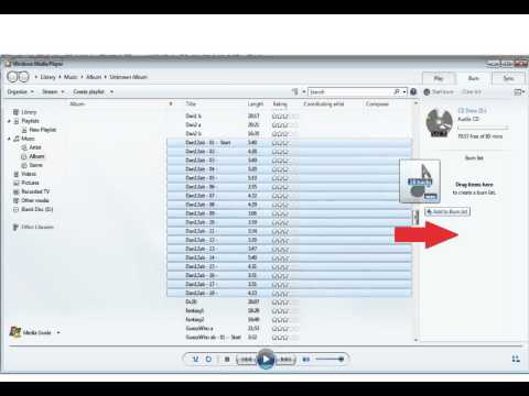 Burn A Music CD With Windows Media Player