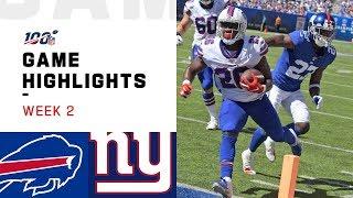 Bills Vs. Giants Week 2 Highlights   Nfl 2019
