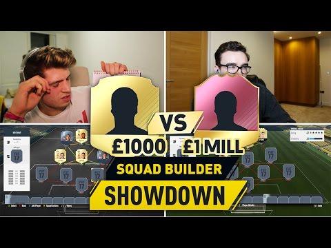 £1,000 Coin Striker Vs £1,000,000 Coin Striker (CRAZY FIFA 17 SQUAD BUILDER SHOWDOWN)