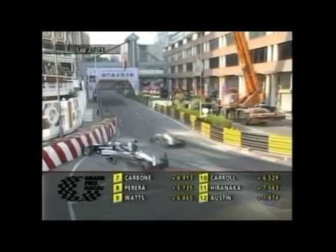 2004 Macau Grand Prix. Nico Rosberg and Lewis Hamilton Crash