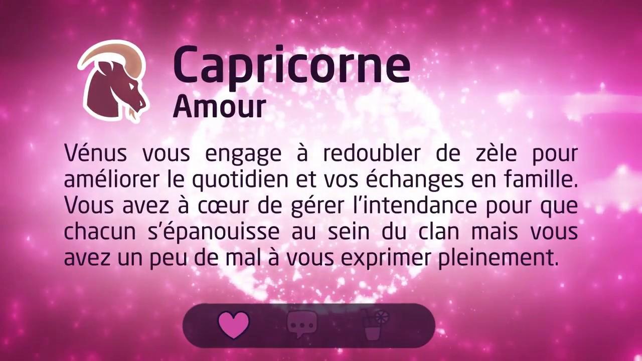 horoscope amour capricorne