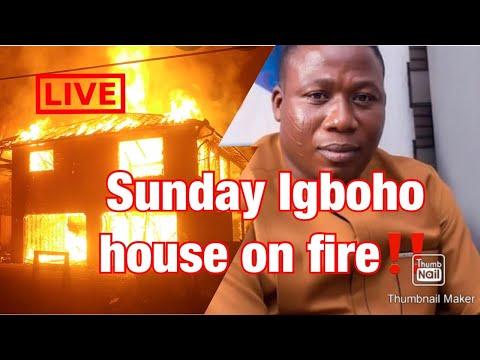 Sunday Igboho house on fire‼️ see what the fulani herdsmen did .