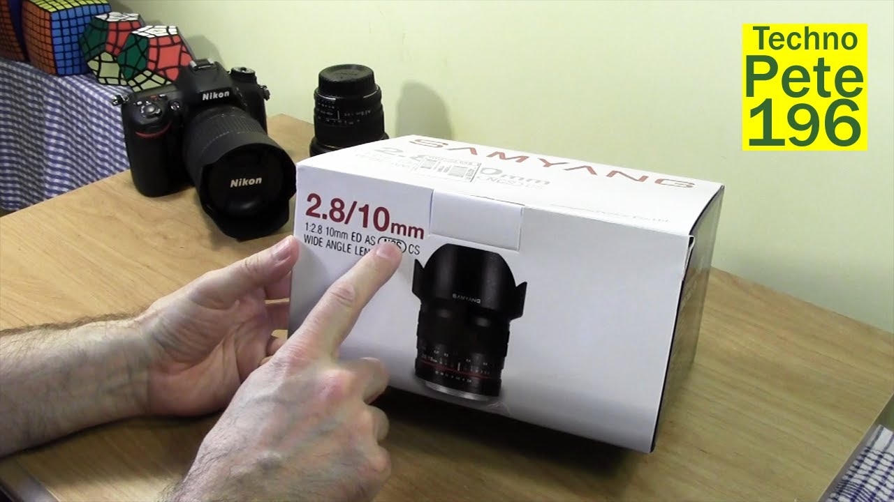 Samyang 10mm f/2.8 Wide Angle Lens Unboxing & Impressions w Sample ...