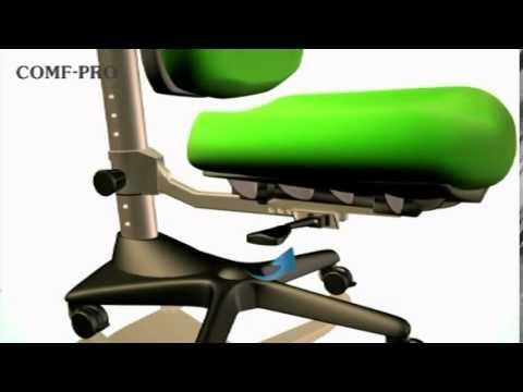 Кресло компьютерное детское Бюрократ KD-6 - YouTube