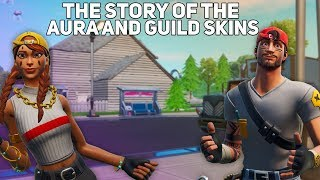 The Story of the Aura and Guild Skins! (Fortnite Battle Royale)